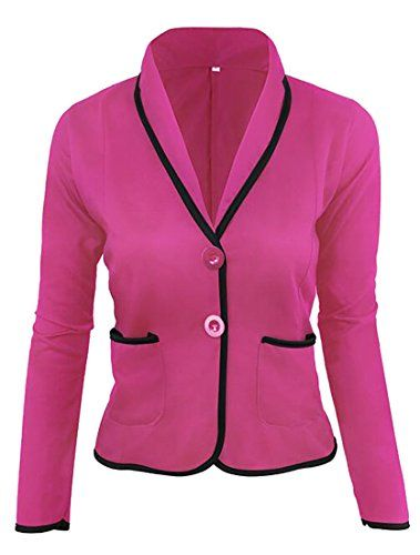 Winwinus Women Skinny Casual Single Button Short Style Long Sleeve OL Blazer