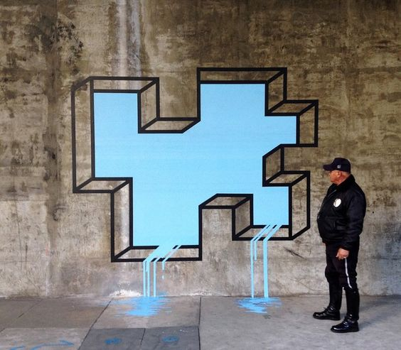 L.A. Leaker by Aakash Nihalani, #streetart, #policeman