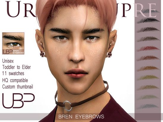 Straight Eyebrows For Your Sims Found In Tsr Category Sims 4