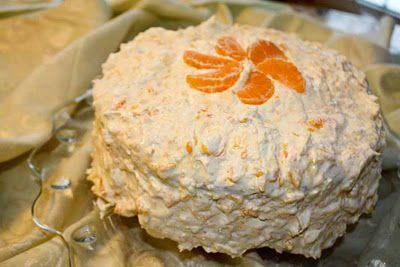 Mandarin orange cream cake - used to have this every year for my birthday