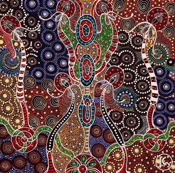 Aboriginal art, Sisters and Mythology on Pinterest