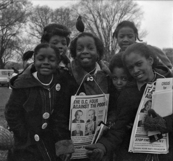 Generation X school children protest cuts to welfare in the Children's March For Survival, Washington D.C. on March 25, 1972. | Source: Washington Spark on Flickr