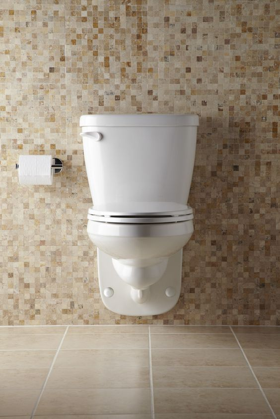 Maxwell 1 28 Gpf 4 Vertical Rough In Two Piece Wall Hung Back Outlet Compact Elongated Toilet Gerber Plumbing Wall Mounted Toilet Wall Hung Toilet Bathroom