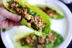 Ginger Cashew Turkey Lettuce Wraps - made this the other night but added onion, mushroom, and bean sprouts.  Very yummy!