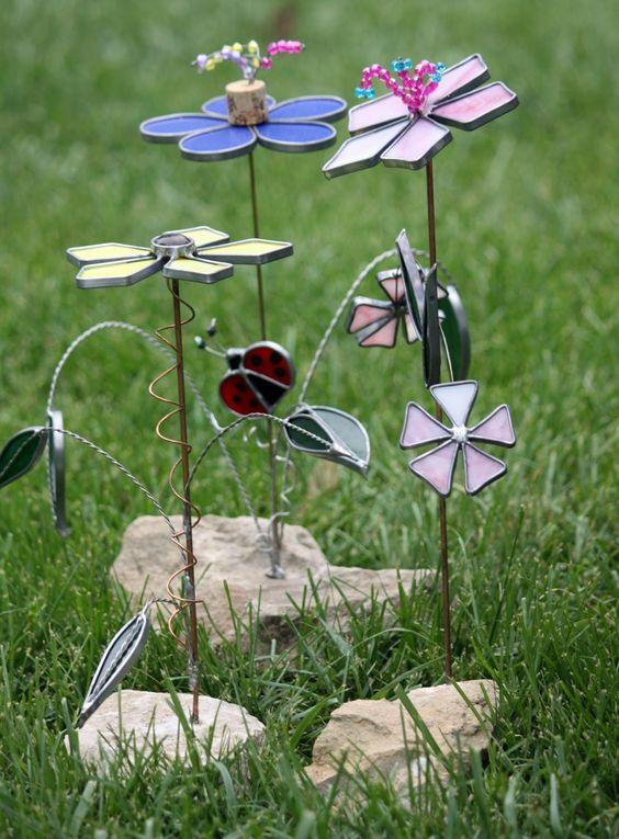 Stained Glass Garden Art Projects | From the Summer's Garden: GET DIRTY GUEST ARTIST LIZZ DORGAN