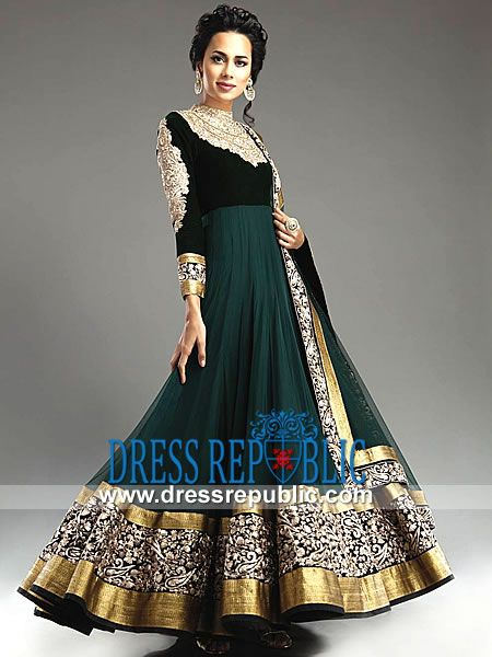 Green Bridal Anarkali Suits | Bridal Anarkali Dresses Buy Online
