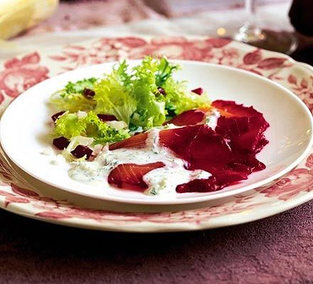 Dazzling beetroot-cured salmon