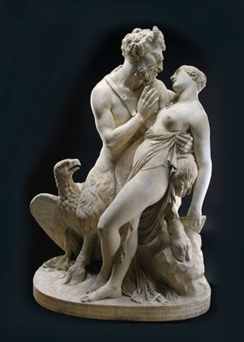 Francesco Pozzi, 1779-1844 Jupiter and Antiope 1828, marble, 155 cm Via: Artnet: