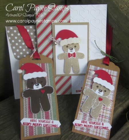 Stampin' Up!, DIY Crafts, Christmas Crafts, Cookie Cutter Christmas, Cookie Cutter Builder Punch, Jolly Friends, Jolly Hat Builder Punch, Warmth & Cheer Designer Paper Stack, Candy Cane Lane Designer Paper, http://www.stampinup.net/esuite/home/carolpayne/
