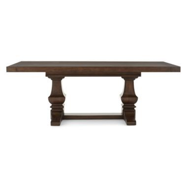 Farmhouse 84 wood extendable rectangular dining table for Dining room tables jcpenney