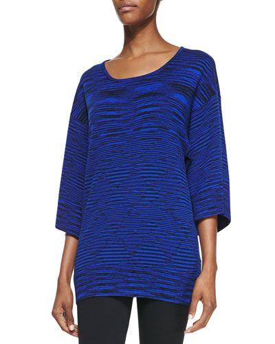MICHAEL KORS Cashmere Space-Dye Kimono Top. #michaelkors #cloth #top