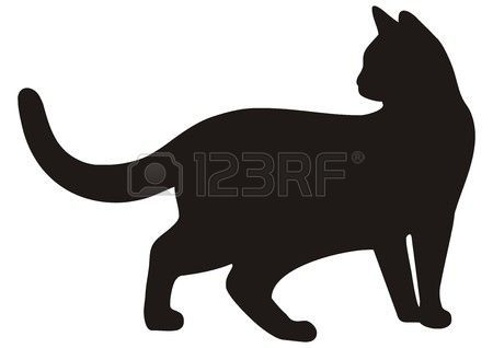 silhouette chat: cat