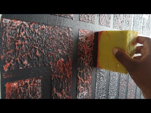 How To Make A Window Style Brick Wall Texture Youtube Wall Texture Design Textured Walls Wall Creations