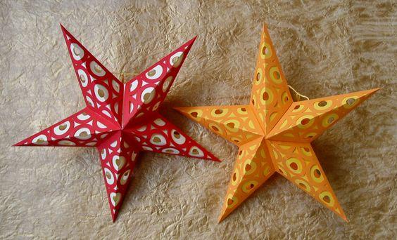 Paper stars: Star Patterns, Paper Stars, Fun Papercrafts, 003 Cut, Paper Projects, Hearts Papermatrix, Paper Crafts, Star Papercraft