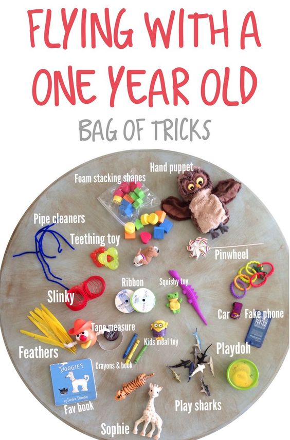 Tips and Tricks for flying with a one year old #tipsandtricks #flyingwithbaby #travelingwithkids #bagoftricks