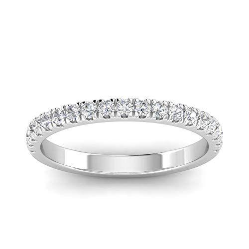 Amazon Com 1 2ctw Diamond Wedding Band In 10k White Gold Sk Wedding Band Mens Diamond Wedding Bands Mens Rings Wedding Diamond Round Diamonds Wedding Band