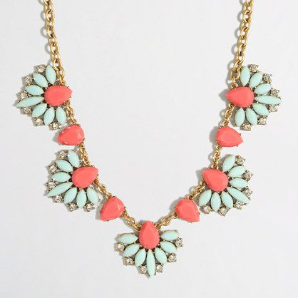 J.Crew Factory  Factory tropical fan necklace
