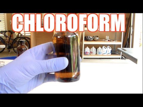 How To Make Chloroform Youtube Chloroform How To Make Cold Remedies