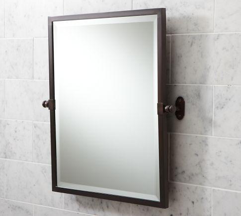 Covington Pivot Mirror In Antique Bronze Pottery Barn Bathroom Remodel Pinterest