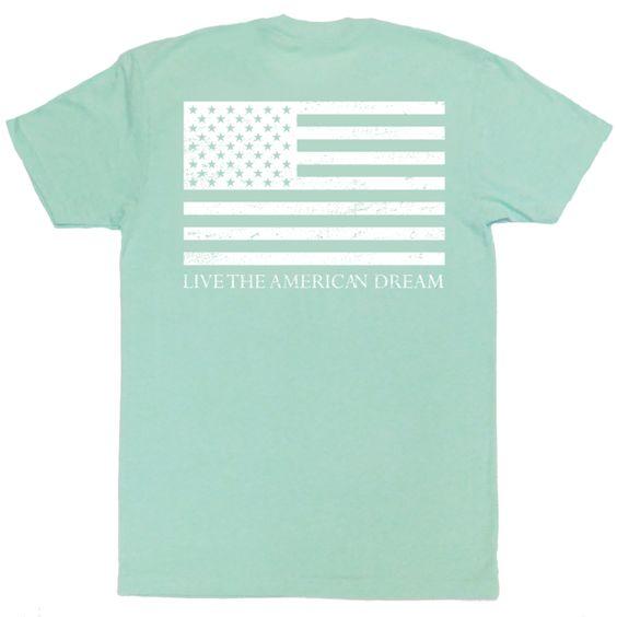 Preppy American Flag T-shirt, pastel colors