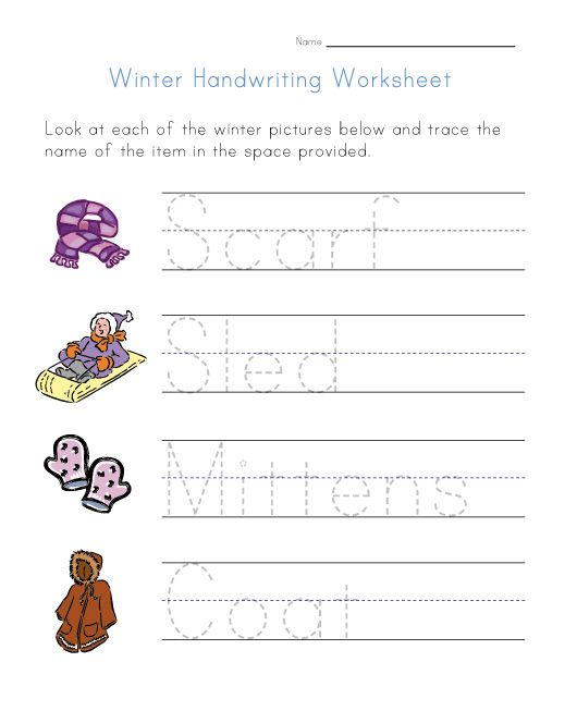 free printables for winter things to do view and print your winter handwriting worksheet ot. Black Bedroom Furniture Sets. Home Design Ideas