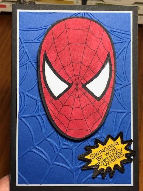 Spidey Senses A Nephew S Birthday By Rdm At Splitcoaststampers Spiderman Coloring Nephew Birthday Kids Cards