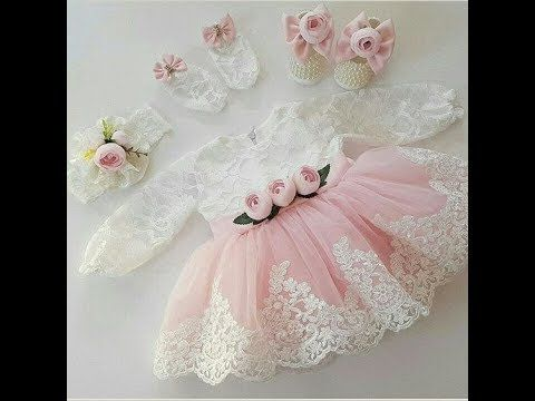 ملابس مواليد جميلة لحفلات السبوع Youtube Little Girl Dresses Baby Gown Dresses Kids Girl