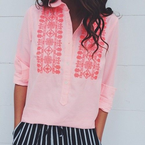 Summer statement blouse.