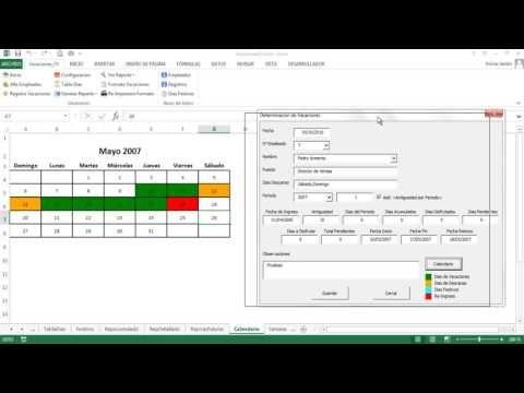 Control De Vacaciones En Excel Vacacionesfx 3 0 Youtube Informática Vacaciones Control