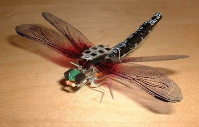 solar powered electronic dragonfly