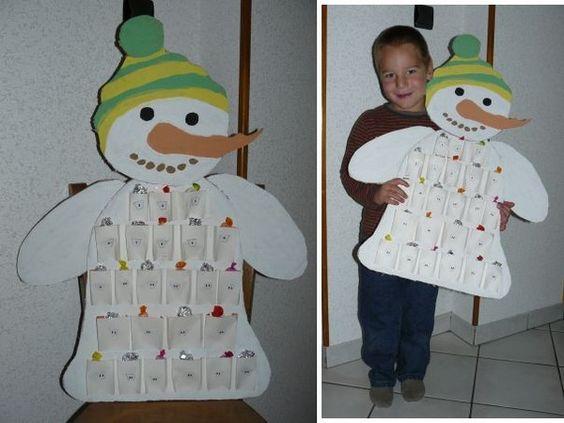 Pinterest le catalogue d 39 id es - Calendrier de l avent en bonhomme de neige ...