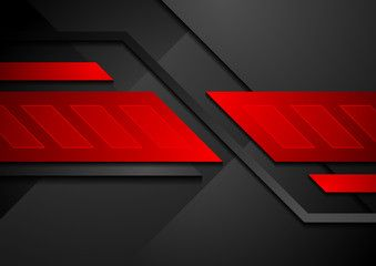 Red And Black Contrast Abstract Technology Background Black Abstract Technology Background Photo Posters