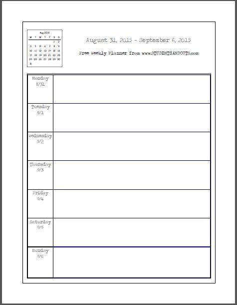 Academic Calendar Template Calendar Template Pinterest - weekly calendar template