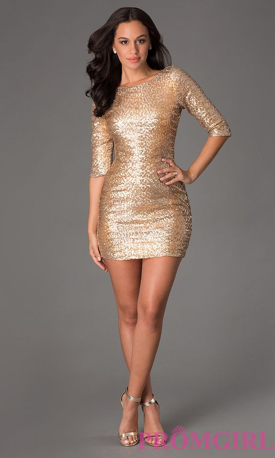 The Perfect Gold Dress, Add Some Black Tights and Black Heels. It ...
