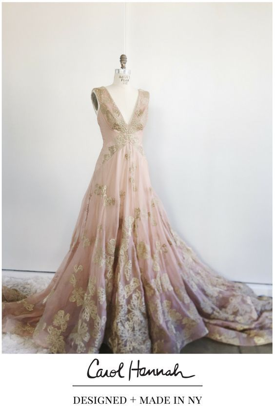 Blush Wedding Gown With Blush Veil And Gold Embroidery V Neck And Low V Back With Architectural Seaming Beautiful Dresses Nice Dresses Wedding Dresses Unique,Wedding Dress Utah