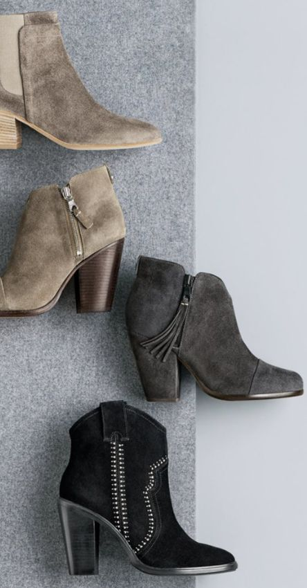 pretty suede booties in different colors