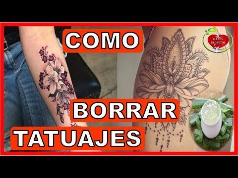 Como Borrar O Eliminar Tatuajes De Forma Natural Remedios Caseros