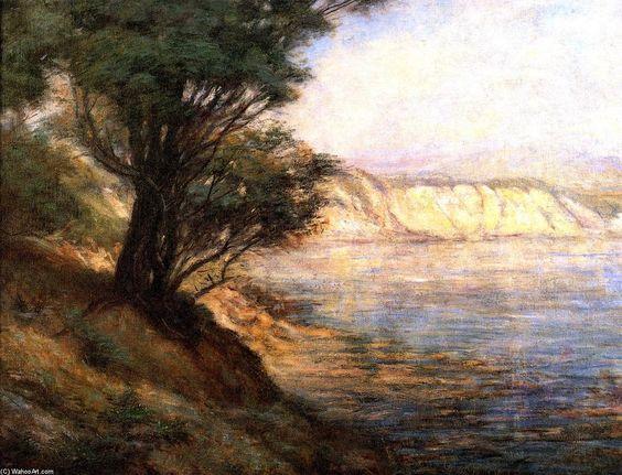 Ti-Tree à Beauaris, huile sur toile de Frederick Mccubbin (1855-1917, Australia)