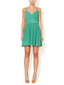 Edie Spaghetti Strap Ruched Dress from Dress Shop: Summer Date Night Dresses on Gilt