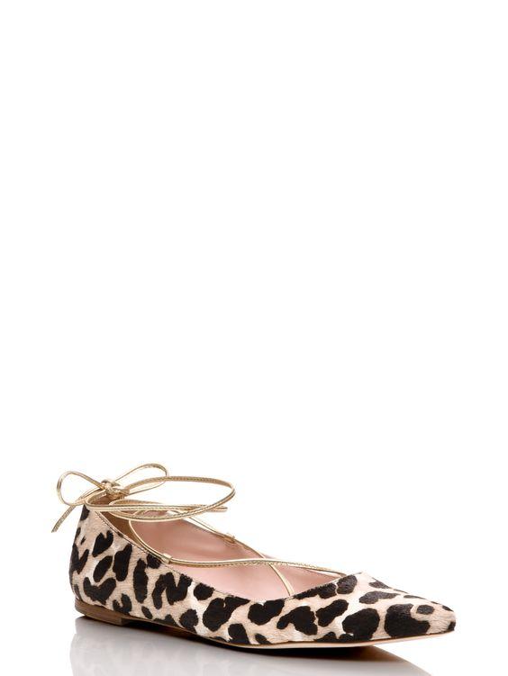 genie flats leopard love by Kate Spade