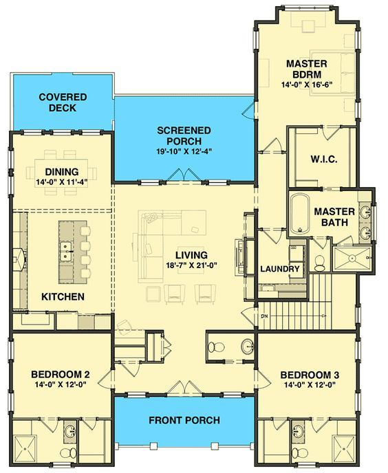 Plan 765008twn Split Bedroom Country Cottage Plan With Outdoor Living Country Cottage House Plans Cottage Plan House Plans Farmhouse