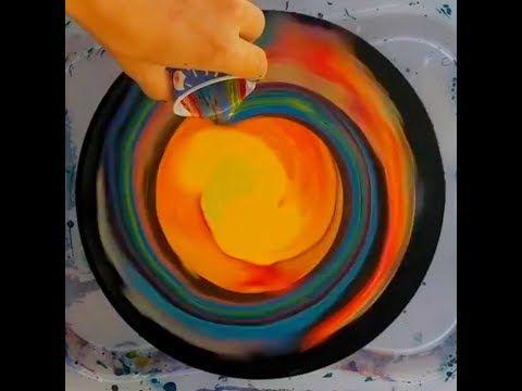 962 Fluid Art Spinning Acrylic Pours On Vinyl With Beyond Acrylic Art Youtube Acrylic Pouring Acrylic Art Fluid Art