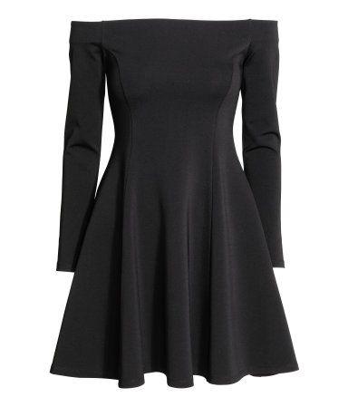 Schulterfreies Kleid | Schwarz | Ladies | H&M DE