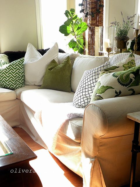 These pretty pillows lend itself to an organic theme and yet they are cool and very trendy.