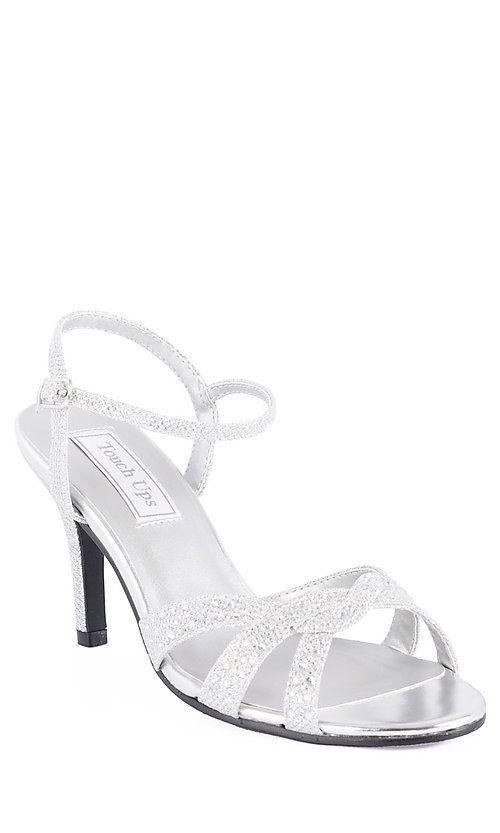 Prom heels, Silver strappy heels