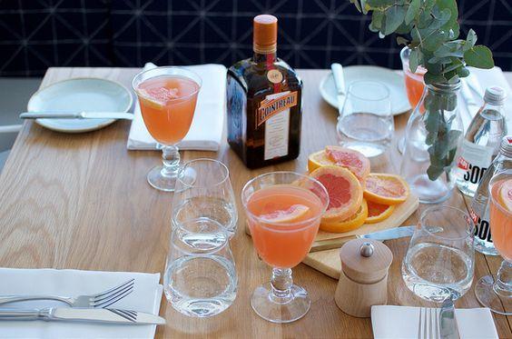 Citrus inspired brunch