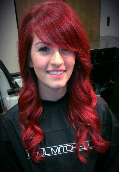 Vibrant Red Hair Color By Kayla Brengman  Bloom Salon  Pinterest  Her Hair
