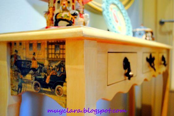 Muebles recuperados, relatos y reflexiones : Mi primer mueble pintado