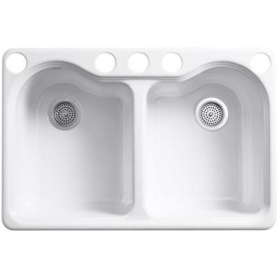 Hartland Undermount Cast Home Double Bowl Kitchen Sink