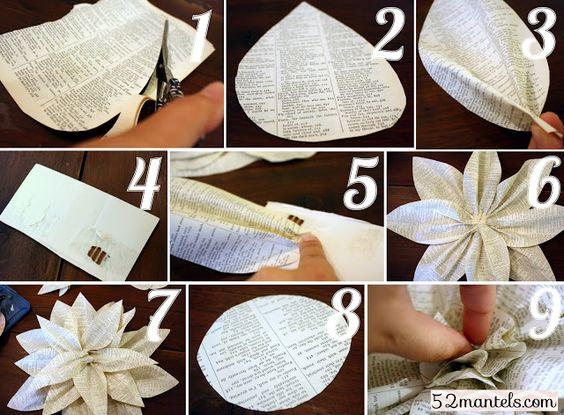 52 Mantels: Paper Flowers (tutorial!)